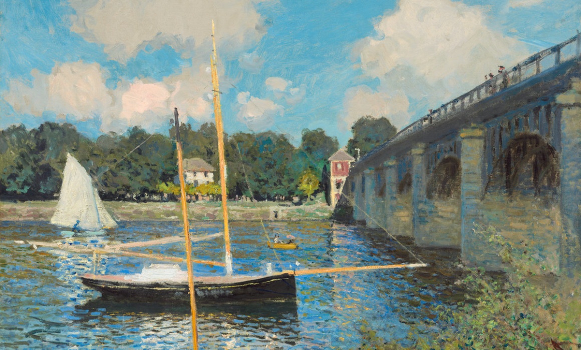 Claude Monet (French, 1840 - 1926 ), The Bridge at Argenteuil, 1874, oil on canvas, Collection of Mr. and Mrs. Paul Mellon